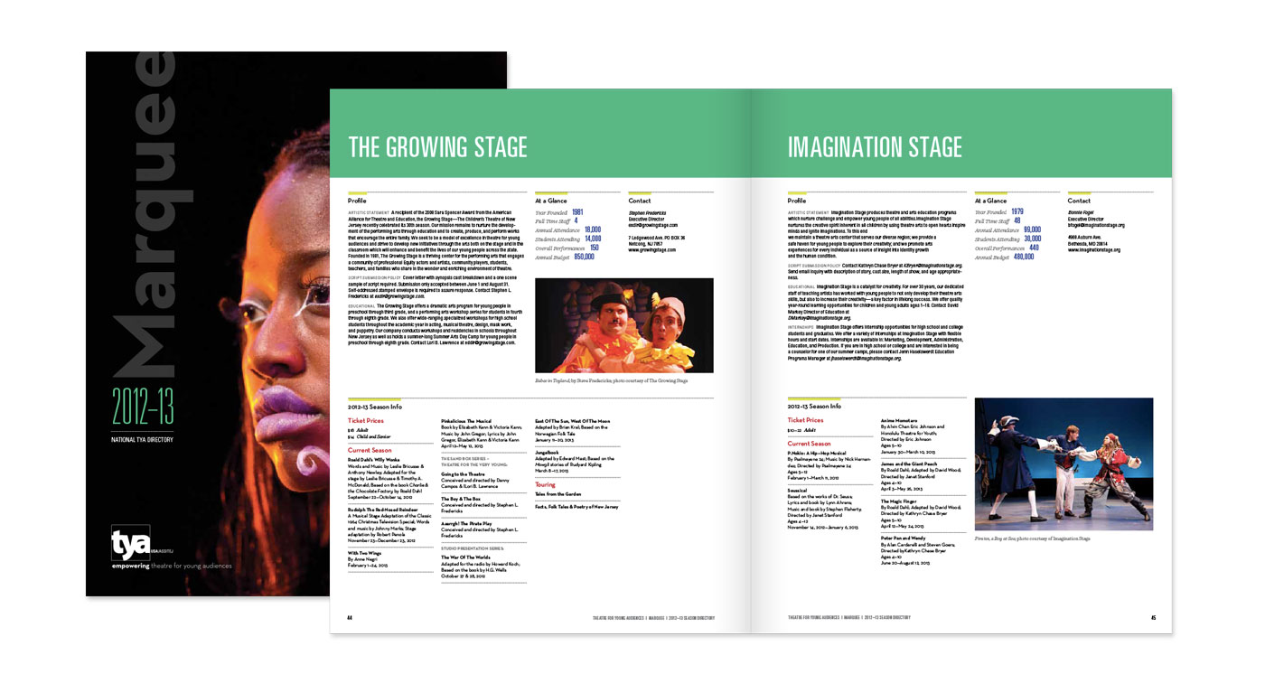 TYA Marquee 2012 Publication